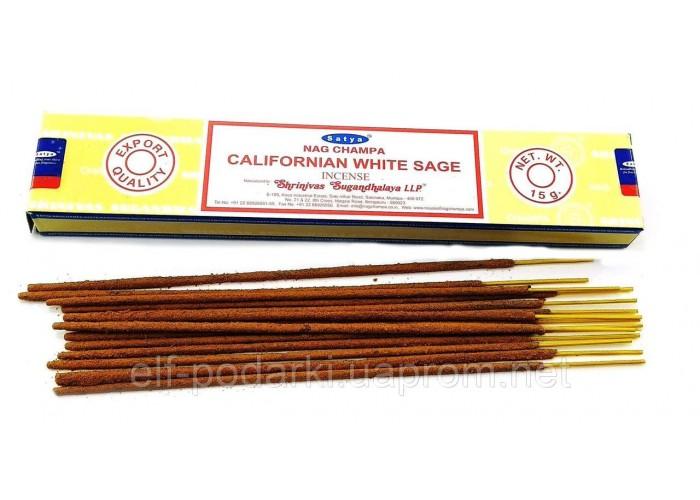 Californian White Sage hit (Каліфорнійський білий шавлія)(15 gms) (12/уп) (Satya) Масала пахощі ЗП-32466
