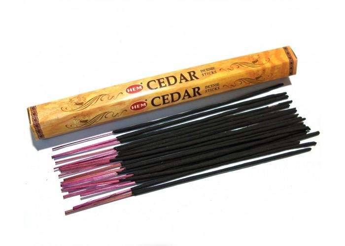 Пахощі Cedar HEM 20шт/уп. Аромапалички Кедр (27678)