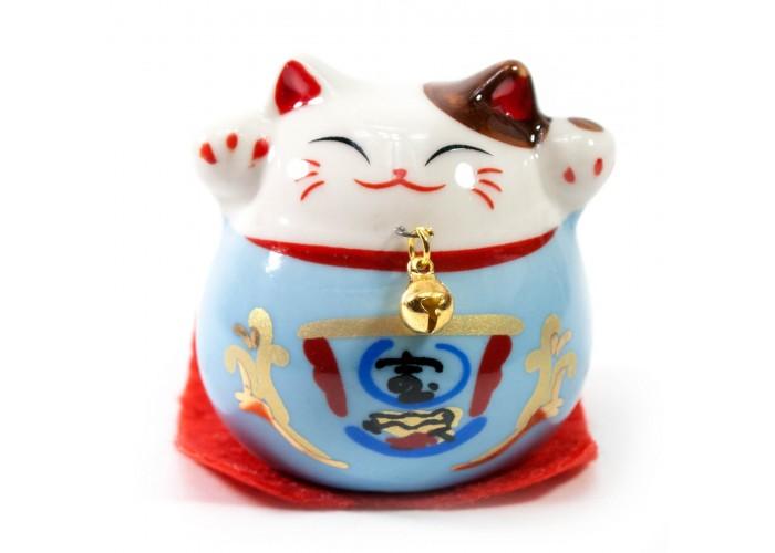 Кішка Манэки Неко (5х5х5 см) блакитна ЗП-30831A