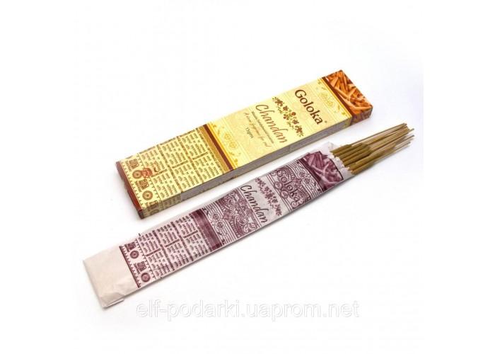 Chandan (Сандалове Дерево)(15 gms) (12 шт/уп) (Goloka) пыльцовое пахощі ЗП-29234