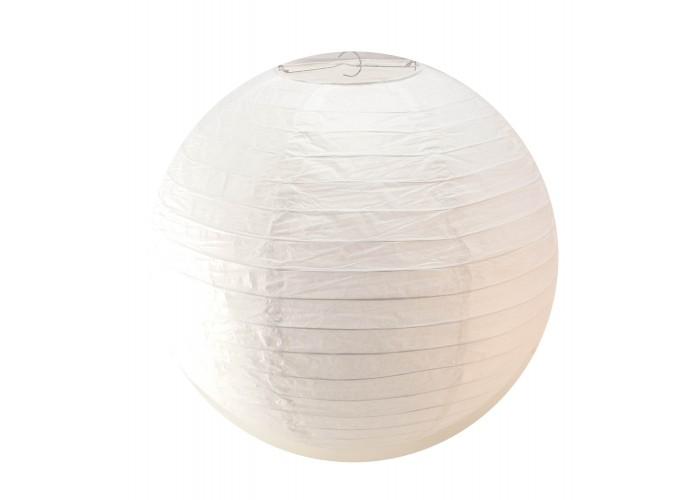 Ліхтар білий паперовий (d-40 см) ЗП-29658