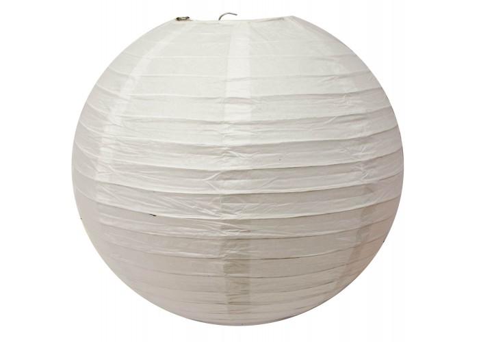 Ліхтар білий паперовий (d-50 см) ЗП-32200