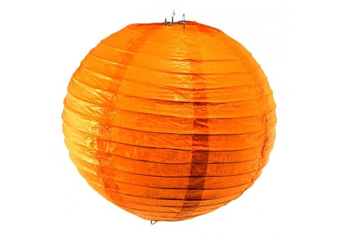 Ліхтар паперовий помаранчевий підвісний куля d-20см (27813C)