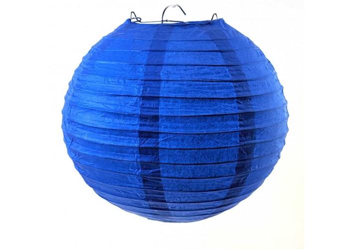 Ліхтар паперовий синій підвісний куля d-20см (27813F)