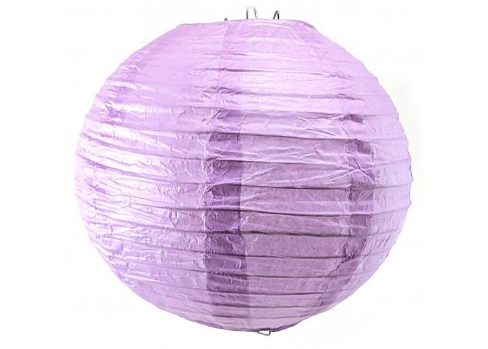 Ліхтар паперовий фіолетовий підвісний куля d-20см (27813B)