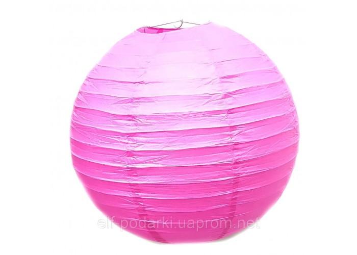 Ліхтар рожевий паперовий підвісний куля d-40см (28801K)