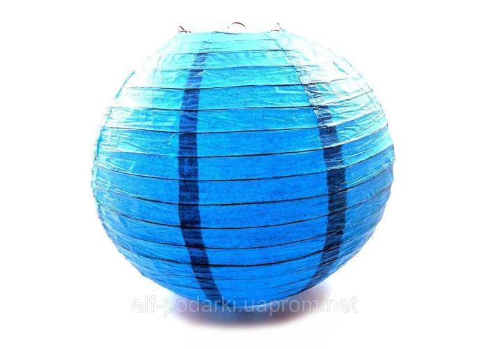 Ліхтар синій паперовий підвісний куля d-40см (28801D)