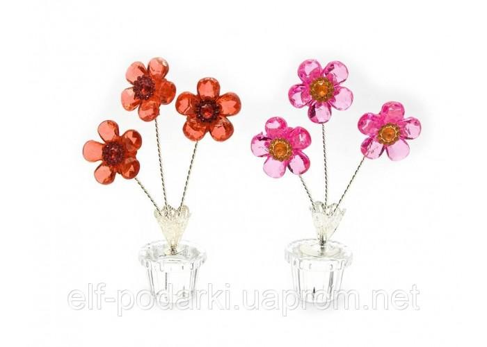 Квітка кришталевий 3 квітки 11,5х6х3,5см (23340)