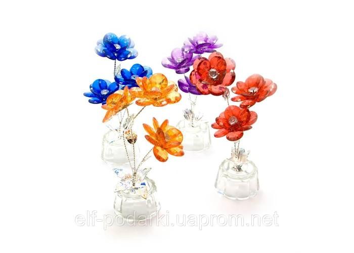 Квітка кришталевий 3 квітки 15х5х5см (18868)