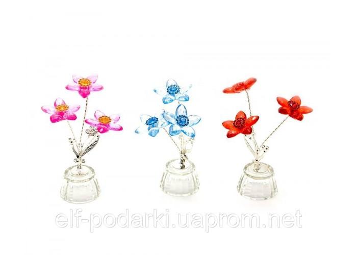 Квітка кришталевий 3 квітки 4,5х4,5х10см (18864)