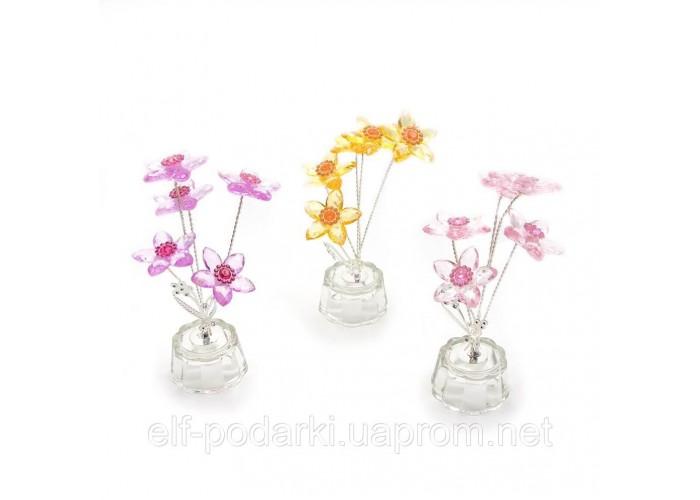 Квітка кришталевий 5 квіток 15х5х5см (18869)