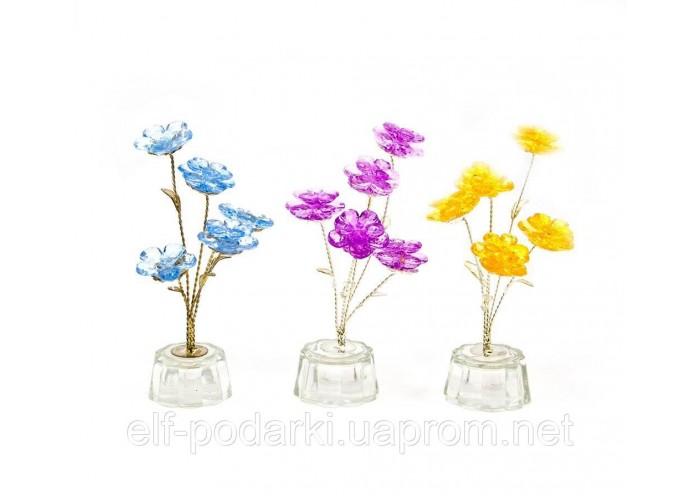 Квітка кришталевий 5 квіток 15х5х5см (18872)