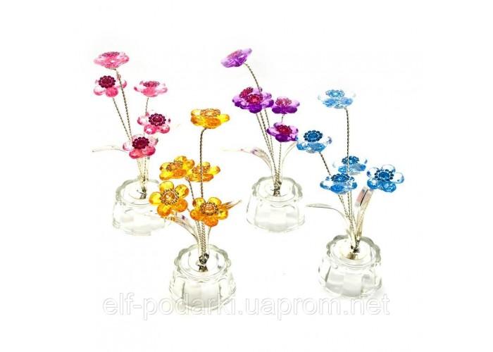 Квітка кришталевий 5 квіток 4,5х4,5х10см (18865)