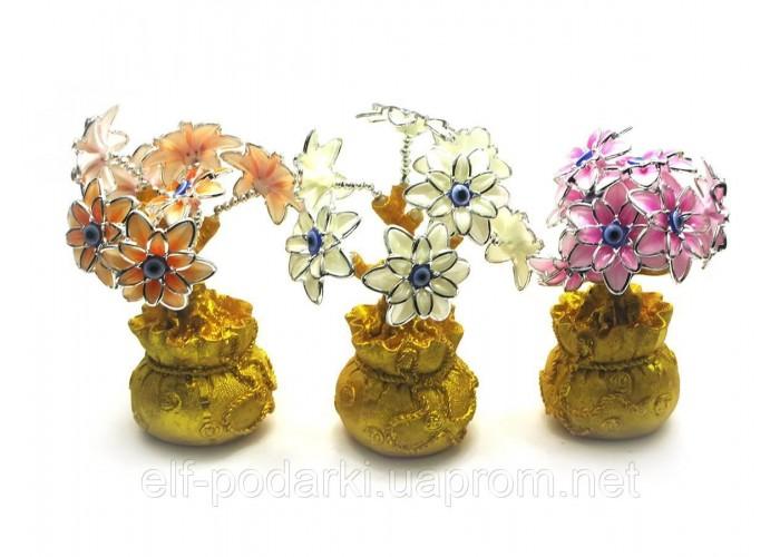 Квіти на мішку багатства (20х8х8 см) ЗП-27868