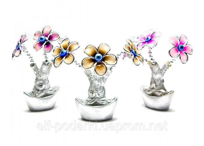 Квіти на чаші багатства (13х9х5 см) ЗП-26488