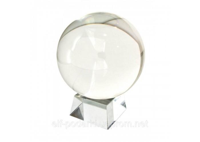 Куля кришталевий прозорий з підставкою d-11см 1,6 кг (20731)