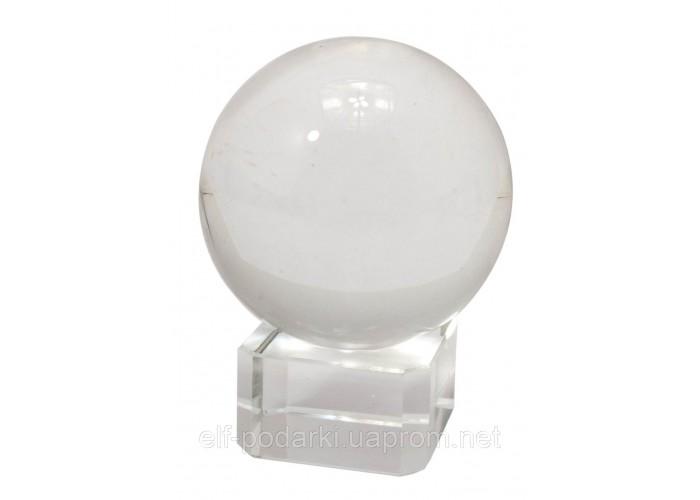 Куля кришталевий прозорий з підставкою d-4см (2212)