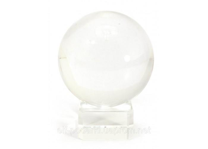 Куля кришталевий прозорий з підставкою d-6см (20729)