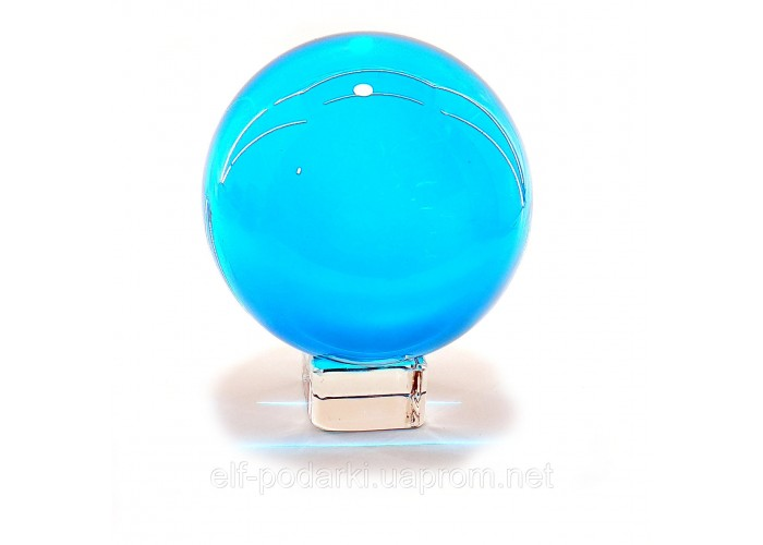 Кришталевий кулю на підставці блакитний 6см (32395)