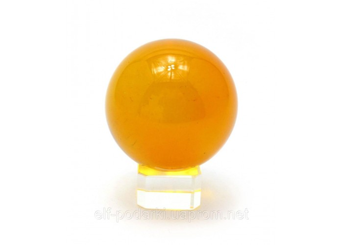 Кришталевий кулю на підставці помаранчевий 5см (28854)