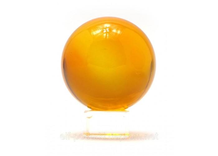 Кришталевий кулю на підставці помаранчевий 6см (28732)