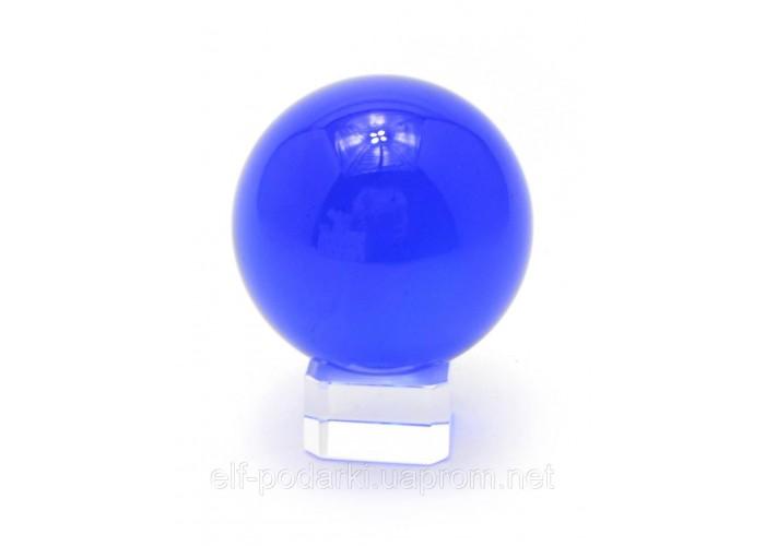 Кришталевий кулю на підставці синій 5см (28847)