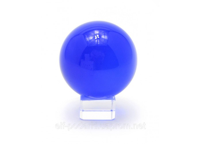 Кришталевий кулю на підставці синій 6см (28848)