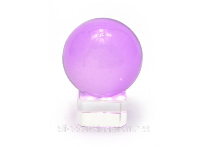 Кришталевий кулю на підставці фіолетовий 4см (28849)
