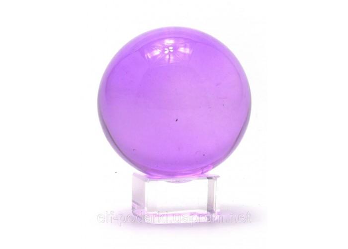 Кришталевий кулю на підставці фіолетовий 5см (28741)