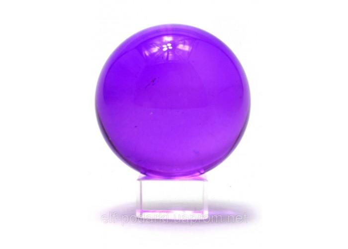 Кришталевий кулю на підставці фіолетовий 6см (28744)