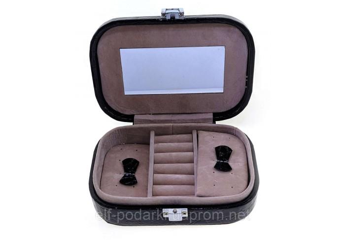 Скриня для біжутерії чорна (15х10,5х4,5 см) ЗП-26314D