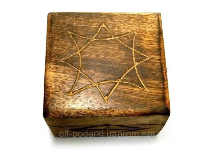 """Скринька з мангового дерева """"Антик"""" (10,5х10х6 см)"""