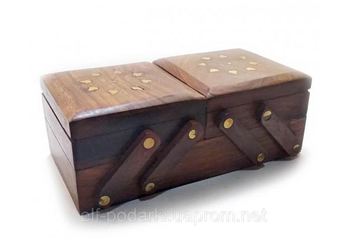 """Скринька розсувна 3 відділення (20,5х10,5х7,5 см)(7"""" Х 4"""") ЗП-21607"""