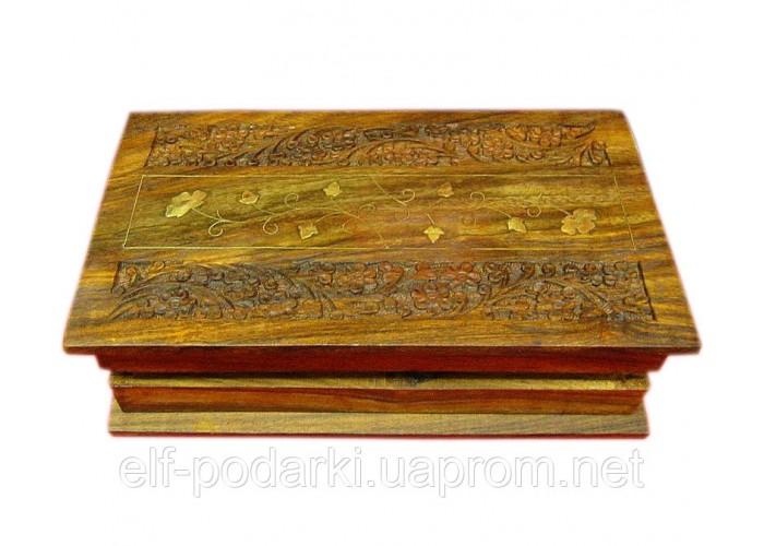 """Скринька рожеве дерево """"Книга"""" (25,5х15х6,5 см)(10"""" Х 6"""") ЗП-21641"""