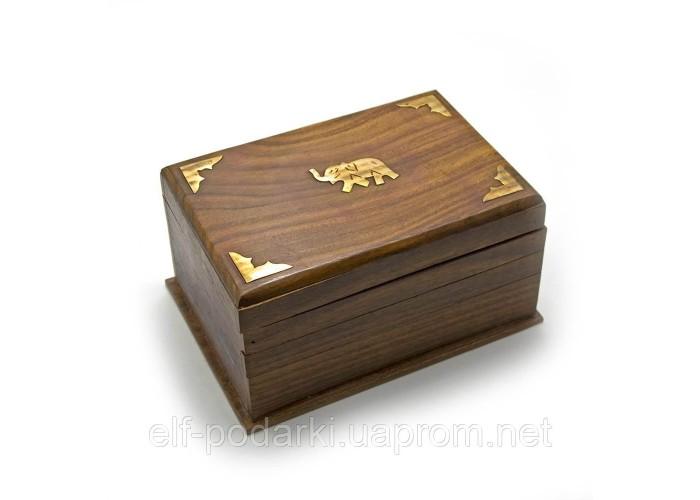 Скринька з двома секретами рожеве дерево (17,5х12х9 см)