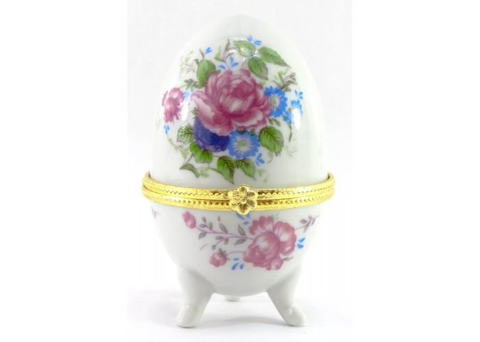 """Скринька яйце """"Півонії""""(10х6х6 см) ЗП-28780D"""