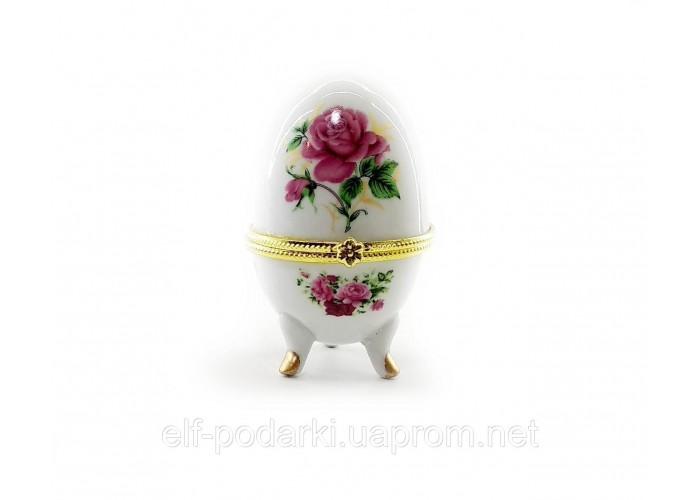 """Скринька яйце """"Троянди""""(10х6х6 см)F ЗП-28780F"""