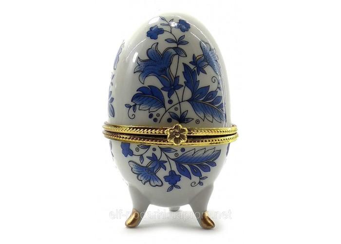 """Скринька яйце """"Сині Квіти""""(10х6х6 см)K ЗП-28780K"""