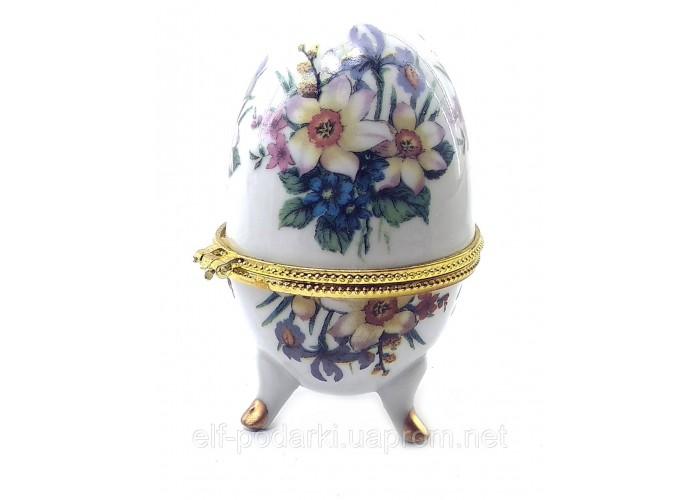 """Скринька яйце """"Квіти""""(10х6х6 см)J ЗП-28780J"""