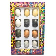 Яйця з каменю 3,5х2,5см набір 12шт (26521)