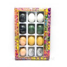 Яйця кам'яні набір (н-р/12шт)(яйце h-4.5 см d-3 см)(упаковка 27х18х3,5 см)