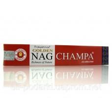 Golden Nag Champa (Золота Наг Чампа))(Vijashree)(12 шт/уп)(15 гр.)пилові пахощі ЗП-23482