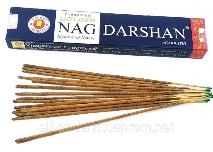 Golden Nag Darshan (Золотий Даршан)(Vijashree)(15 gm) (12 шт/уп) пыльцовое пахощі ЗП-32602