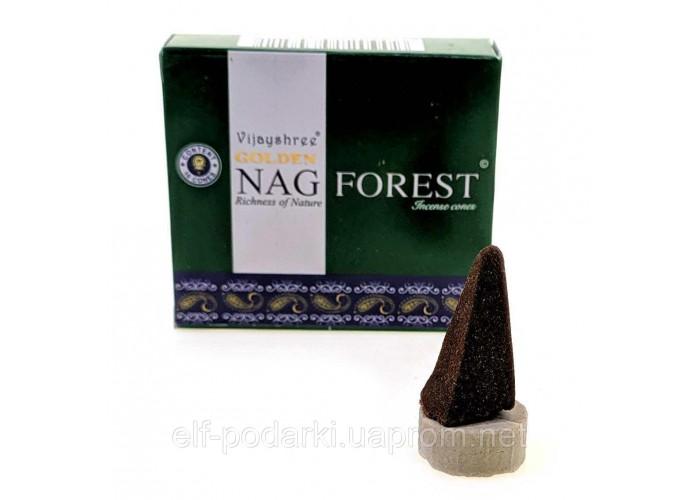 Пахощі Golden Nag Forest Vijayshree 10шт/уп Арома-конуси Ліс (33878)