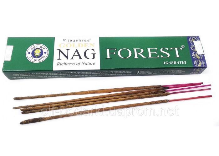 Golden nag Forest (Лес)(Vijayshree)(15 gm) (12 шт/уп)пыльцовое благовоние