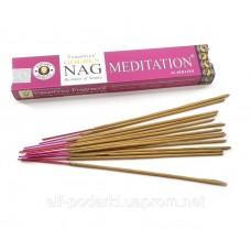 Golden Nag Meditation (Медитація)(Vijashree)(12 шт/уп)(15 гр.)масала пахощі ЗП-32273