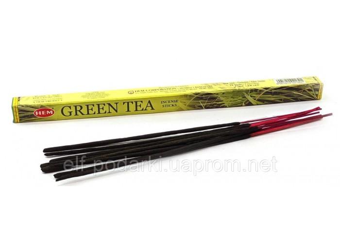 Пахощі Green Tea HEM 8шт/уп. Аромапалички Зелений Чай (27572)