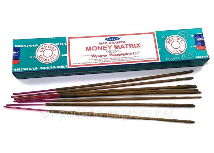 Money Matrix (Грошова матриця) (15 грм.) (Satya)(12 шт/уп) масала пахощі ЗП-32444