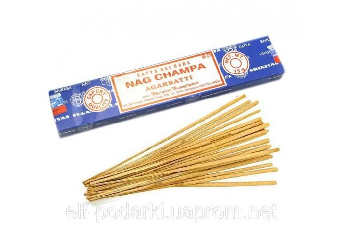 Nag champa (Нагчампа)(15 gms) (12шт/уп)(Satya) пыльцовое пахощі ЗП-21799K