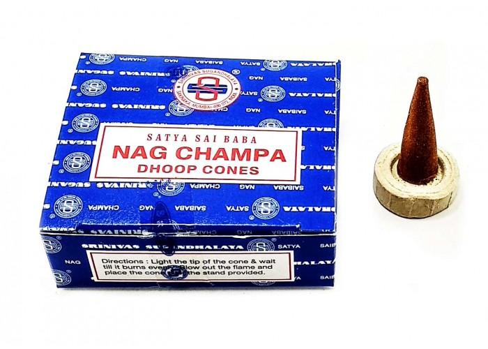 Nagchampa Dhoop Cones (Нагчампа)(12 шт/уп)(Satya) конуси ЗП-32493